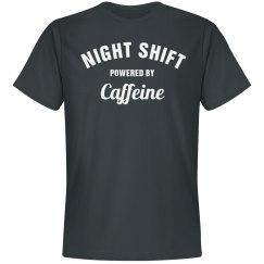 Night shift powered by caffeine