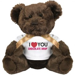 I love you Chocolate Drop