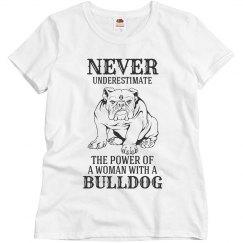 Woman with a Bulldog