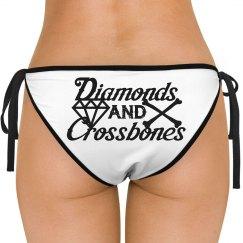 D/C (White Logo) - Swim Bottoms