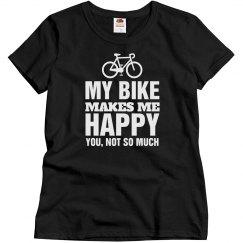 My bike makes me happy
