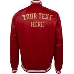 Customize Text Bomber Jacket
