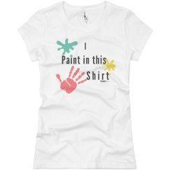 I paint in this shirt