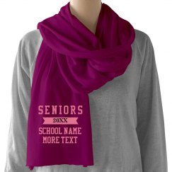 Custom Seniors Scarf