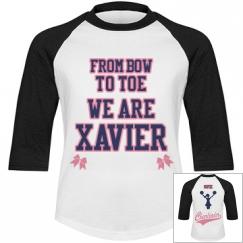 Bow to toe cheer shirt Youth