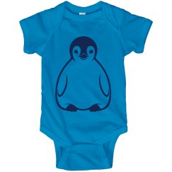 Blue Baby Penguin Onesie