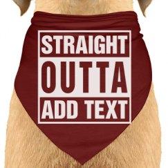 Straight outta Dog Bandana