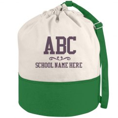 Custom School And Initials Laundry