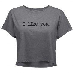 I like you crop top