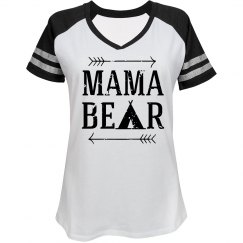 Mama Bear Blk/Wht Game Day Shirt