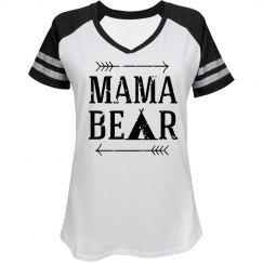 Mama Bear Blk/Wht Game Day Shirt