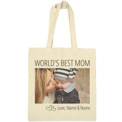 World's Best Mom Custom Photo