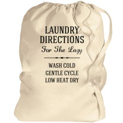 Laundry Directions For The Lazy