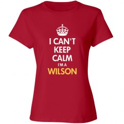 I can't keep calm I'm a wilson