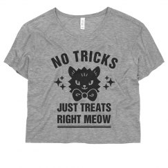 No Tricks Just Treats Right Meow