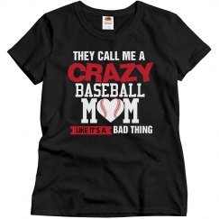 Crazy Baseball Mom