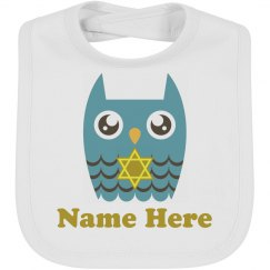 Star of David Owl Bib
