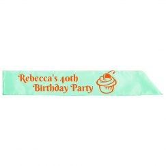 40th Birthday Party Sash