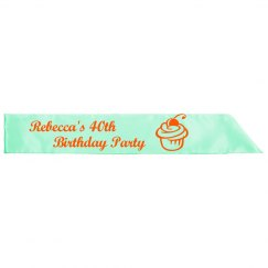 40th Birthday Party Sash
