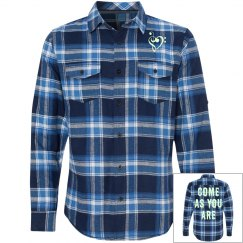 Come As You Are Nirvana Inspired Flannel