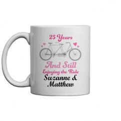 25th Anniversary Couples Gift Mug