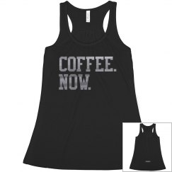 """COFFEE. NOW."" Crop-Top"