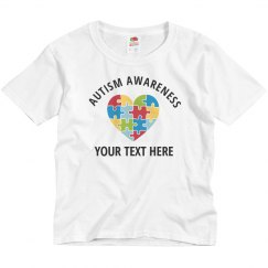 Autism Awareness Custom Kids Design