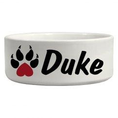 Duke, Dog Bowl