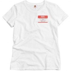 Misses Bucky Name Shirt