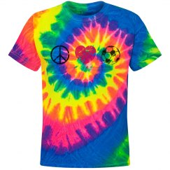 Peace, Love, Soccer Tee