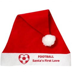 Santa Hat Football Love