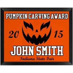 Pumpkin Carving Award