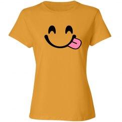 Smiley Tongue Emoji Costume