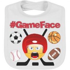 Game Face Sports Emoji Bib