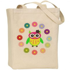Pretty Owl Canvas Tote