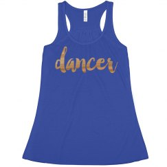 Dancer Metallic Tank