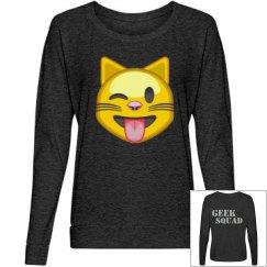 Emoji Tongue Slouchy Shirt