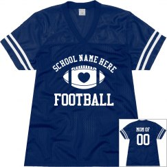 Trendy Football Mom Shirts With Custom Name and Number