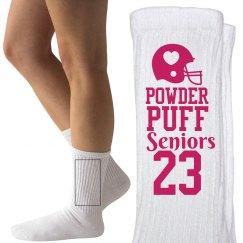 Powderpuff Football Senior Girls Custom Socks