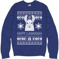 Funny Hanukkah Sweater Llama