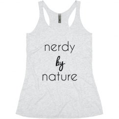 Nerdy by Nature tank
