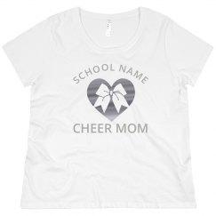 Silver Metallic Custom Cheer Mom Bling