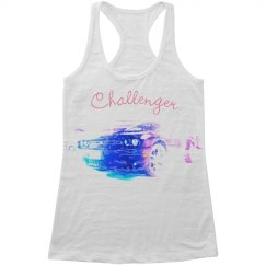 Challenger Dream - Girl's racer back slouchy tank top