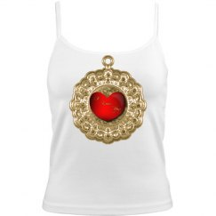 Antique Gold Red Heart
