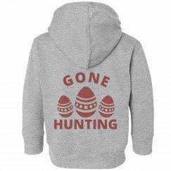 Gone Hunting Easter Toddler Sweatshirt