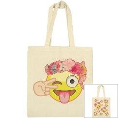 Emoji Flowers Bag