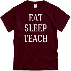 Eat, sleep, teach