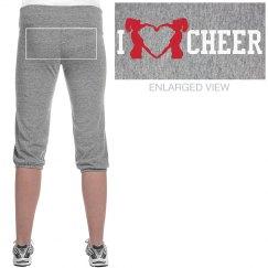 I Love Cheer Silhouette