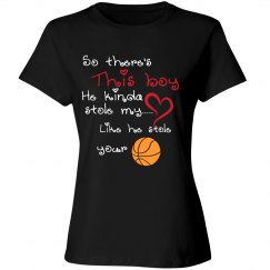 Basketball Mom - Stole heart and Ball