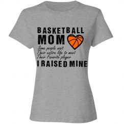 Basketball Mom - Raised Favorite Player